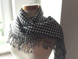 Oasis Écharpe à franges blanc-noir