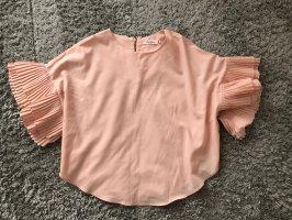 Top in seta rosa pallido