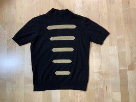 Escada Sudadera de cachemir negro-color oro