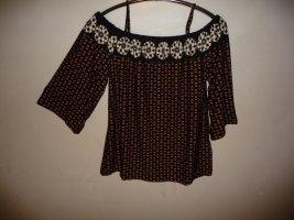 rick cardona Camisa tipo Carmen multicolor Viscosa