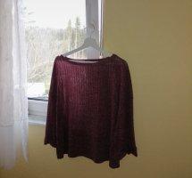 SheIn Crewneck Sweater blackberry-red-purple
