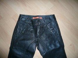Object Skórzane spodnie czarny Skóra