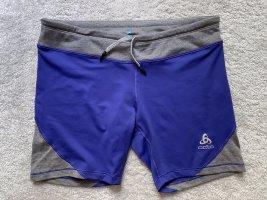 Odlo Lauf Trainings Shorts Radler blau grau NEU