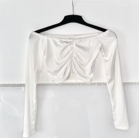 Boohoo One Shoulder Shirt white