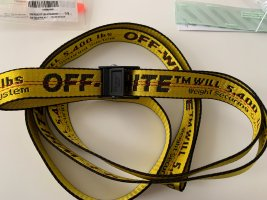 Off-White Fabric Belt yellow-black polyester