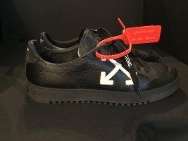 OFF-WHITE Sneaker Leder Schwarz Gr. 39