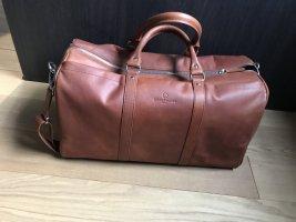Torba typu bowling cognac-brązowy Skóra