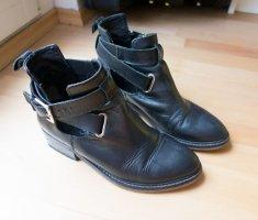 Office London Damen Stiefel Buckle Cut-Out Boots Echtleder schwarz Gr. 39