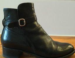 Botas con cremallera negro Cuero