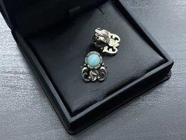 Boutique Ware Clip d'oreille argenté-bleu clair