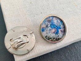 HANDMADE BY GERMANY Earclip steel blue-azure