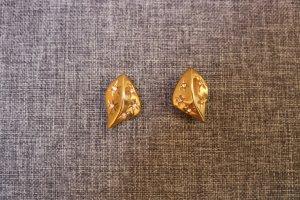 #Ohrclips, #goldfarben, #Glitzersteinchen, #nickelfrei, #hochwertig