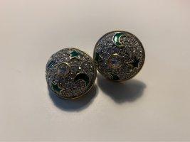 Ohrclips grüne Sterne