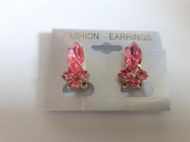 Earclip pink-gold-colored