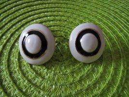 Ohrclips, Modeschmuck, schwarz-weiß