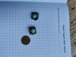 Clip d'oreille turquoise