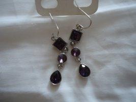 Pendientes colgante púrpura