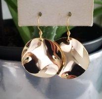 Ohrhänger mit großen Gold-Plättchen (18k Gold)