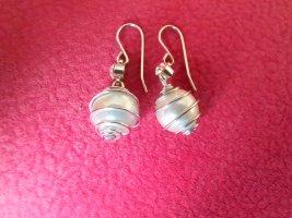 Ohrhänger mit Perle und Schmuckstein