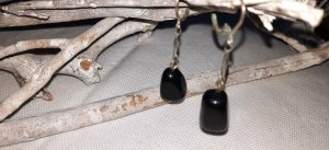 Ohrhänger schwarze Steine