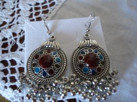 Ohrhaken blau-rot Modeschmuck