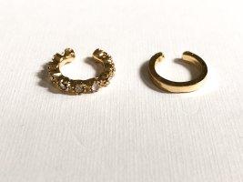 Oorclips goud-zilver