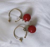 Ear Hoops red