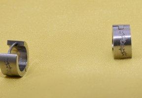 Ohrringe aus Edelstahl mit schöner Gravur - Unisex