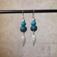 Ohrringe blau silber