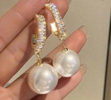 keine Marke bekannt Pearl Earring white-gold-colored