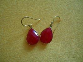 Ohrringe Calcedon pink silber vergoldet
