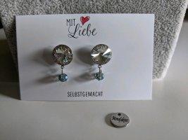Ohrringe Chirurgenstahl, Swarovskikristall mit kleinen Glasperlen