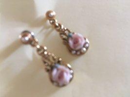 Pearl Earring black-rose-gold-coloured
