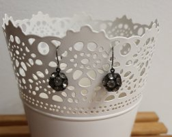 Bijou Brigitte Silver Earrings black-silver-colored