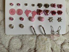 Pendientes de perlas rosa claro