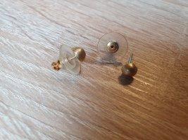 Clou d'oreille doré tissu mixte