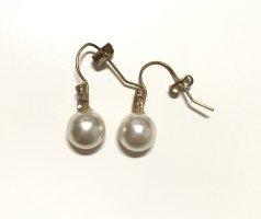 Ohrringe goldfarben Perlen