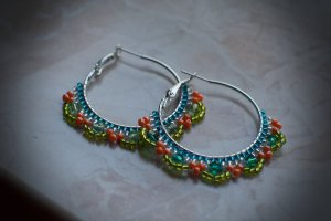 Ear Hoops multicolored