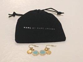 Ohrringe in gold/türkis von Marc by Marc Jacobs