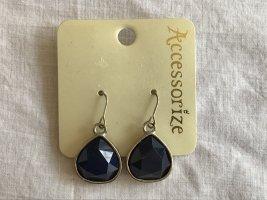 Accessorize Pendientes colgante color plata-azul