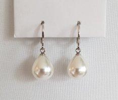 Hand made Boucles d'oreilles en perles argenté