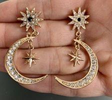 Ohrringe Mond Sterne Glitzer