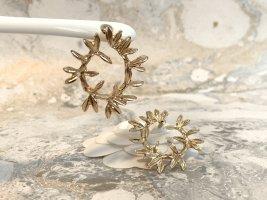 Zdobione kolczyki złoto