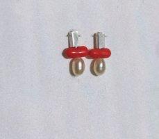 Silver Earrings multicolored metal