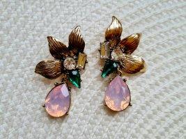 Ohrringe Ohrstecker mit großen rosa Steinen