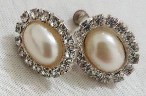 Vintage Pendientes de perlas multicolor