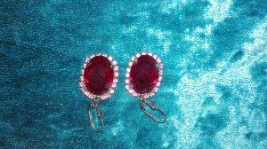 Ohrringe rot von Krikor