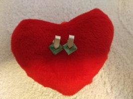 Boucles d'oreilles en argent argenté-vert clair