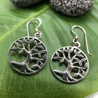 Ohne Silver Earrings silver-colored