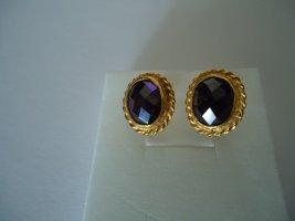 Ohrringe silber  Amethyst vergoldet